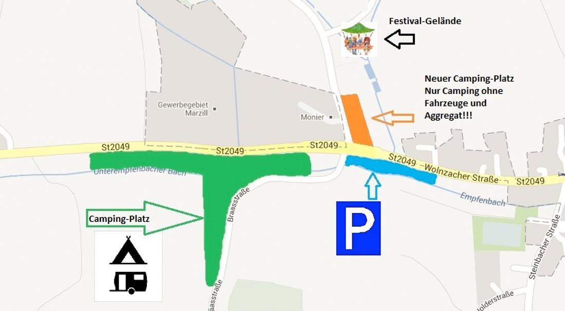 Geländeplan Festival Holledau Open Air Empfenbach